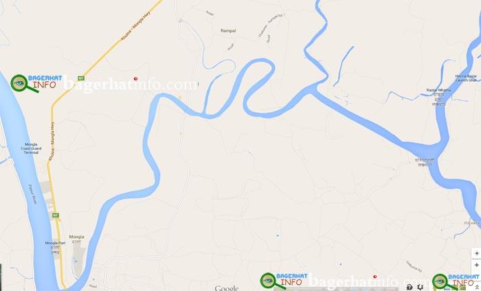 Mongla-GoshaKhali-Chanal-Map